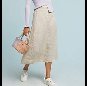 Velvet by Graham & SpencerKiara Linen Midi Skirt
